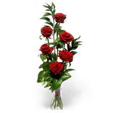 Düzce İnternetten çiçek siparişi  mika yada cam vazoda 6 adet essiz gül