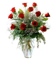 Vazo içerisinde 11 kirmizi gül  Düzce güvenli kaliteli hızlı çiçek