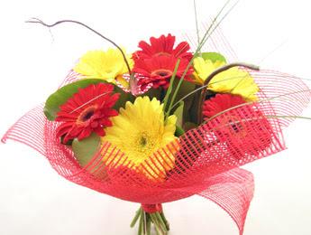 9 adet gerbera çiçeklerinden buket  Düzce cicekciler , cicek siparisi