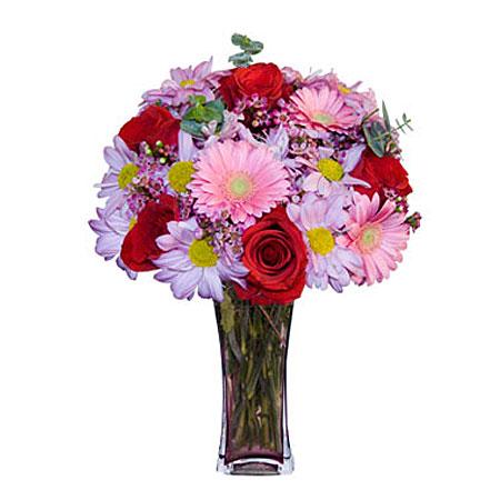 Görsel hediye karisik cam mevsim demeti  Düzce hediye sevgilime hediye çiçek