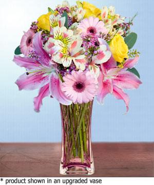 Anneme hediye karisik cam mevsim demeti  Düzce kaliteli taze ve ucuz çiçekler