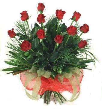 Çiçek yolla 12 adet kirmizi gül buketi  Düzce hediye çiçek yolla