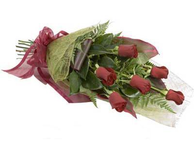 ucuz çiçek siparisi 6 adet kirmizi gül buket  Düzce çiçek online çiçek siparişi