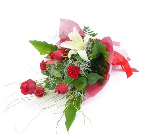 Mevsim çiçeklerinden karisik buket  Düzce online çiçekçi , çiçek siparişi