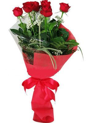 7 adet kirmizi gül buketi  Düzce internetten çiçek satışı