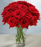 Düzce hediye sevgilime hediye çiçek  cam vazoda 11 kirmizi gül  Düzce çiçek gönderme