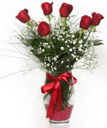 7 adet gülden cam içerisinde güller  Düzce çiçek gönderme sitemiz güvenlidir