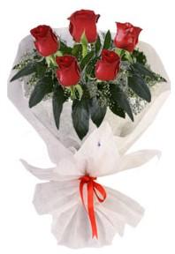 5 adet kirmizi gül buketi  Düzce çiçek mağazası , çiçekçi adresleri