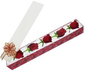 Düzce çiçek servisi , çiçekçi adresleri  kutu içerisinde 5 adet kirmizi gül