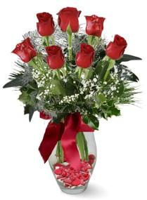 7 adet vazoda gül  Düzce çiçek servisi , çiçekçi adresleri  kirmizi gül
