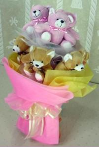 8 adet ayiciktan buket  Düzce online çiçekçi , çiçek siparişi