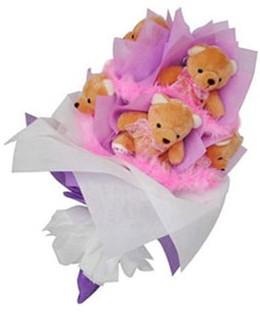 9 adet ayiciktan buket  Düzce çiçek gönderme