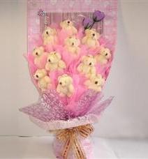 11 adet pelus ayicik buketi  Düzce çiçek siparişi vermek