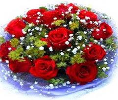 9 adet kirmizi güllerden buket  Düzce cicek , cicekci