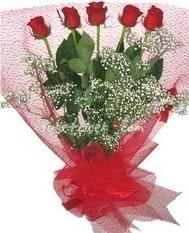 5 adet kirmizi gülden buket tanzimi  Düzce çiçek siparişi vermek