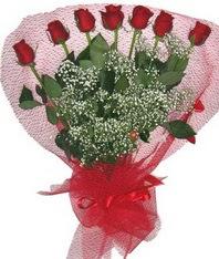 7 adet kipkirmizi gülden görsel buket  Düzce çiçek , çiçekçi , çiçekçilik