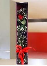 kutu içinde tek kirmizi gül  Düzce çiçekçi telefonları