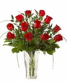 cam yada mika vazo içerisinde 9 kirmizi gül  Düzce çiçek online çiçek siparişi
