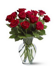 Düzce internetten çiçek siparişi  cam yada mika vazoda 10 kirmizi gül