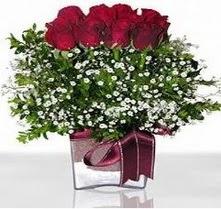 Düzce çiçek servisi , çiçekçi adresleri  mika yada cam vazo içerisinde 7 adet gül