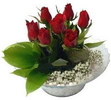 Düzce çiçek servisi , çiçekçi adresleri  cam yada mika içerisinde 5 adet kirmizi gül