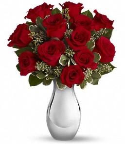 Düzce güvenli kaliteli hızlı çiçek   vazo içerisinde 11 adet kırmızı gül tanzimi