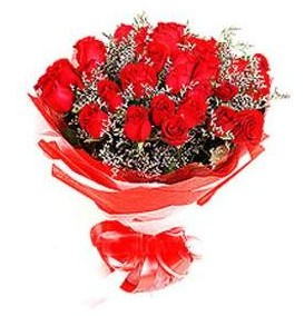 Düzce çiçek , çiçekçi , çiçekçilik  12 adet kırmızı güllerden görsel buket