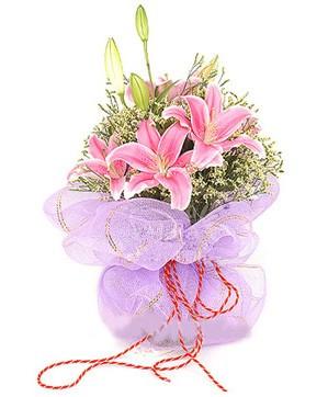3 dal kazablanka görsel buketi  Düzce çiçek servisi , çiçekçi adresleri