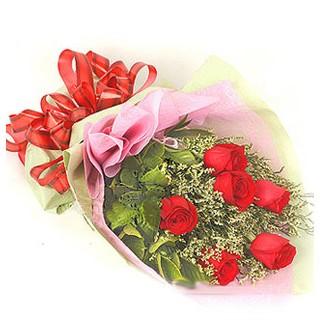 Düzce uluslararası çiçek gönderme  6 adet kırmızı gülden buket