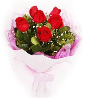 Düzce çiçek gönderme  kırmızı 6 adet gülden buket