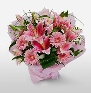 1 dal kazablanka ve kır çiçek görsel buketi  Düzce çiçek servisi , çiçekçi adresleri
