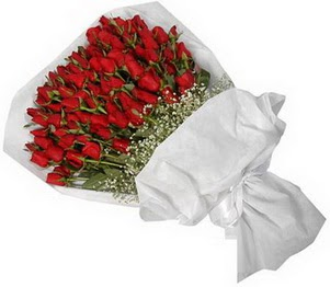 Düzce çiçekçiler  51 adet kırmızı gül buket çiçeği