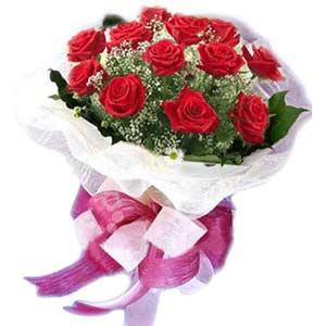Düzce cicekciler , cicek siparisi  11 adet kırmızı güllerden buket modeli