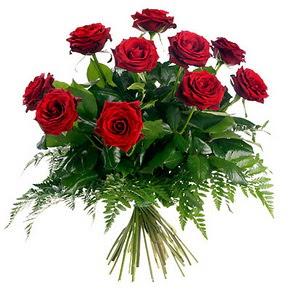 Düzce online çiçek gönderme sipariş  10 adet kırmızı gülden buket