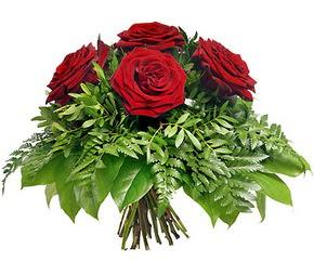 Düzce çiçek , çiçekçi , çiçekçilik  5 adet kırmızı gülden buket