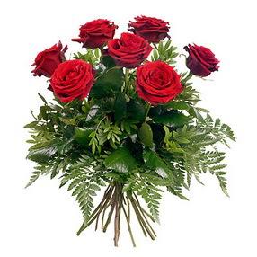 Düzce yurtiçi ve yurtdışı çiçek siparişi  7 adet kırmızı gülden buket