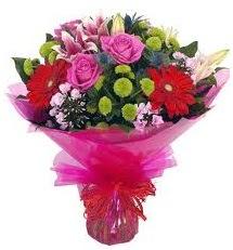 Karışık mevsim çiçekleri demeti  Düzce yurtiçi ve yurtdışı çiçek siparişi