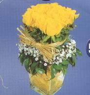 Düzce çiçek yolla  Cam vazoda 9 Sari gül