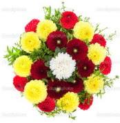 Düzce hediye sevgilime hediye çiçek  13 adet mevsim çiçeğinden görsel buket