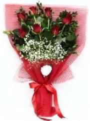 7 adet kırmızı gülden buket tanzimi  Düzce online çiçekçi , çiçek siparişi