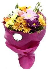 1 demet karışık görsel buket  Düzce çiçek yolla