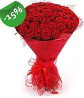51 adet kırmızı gül buketi özel hissedenlere  Düzce çiçek online çiçek siparişi