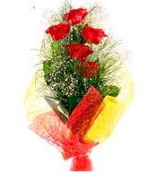 5 li kırmızı gül buketi  Düzce çiçek servisi , çiçekçi adresleri