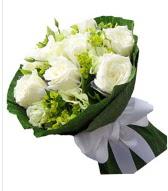 9 adet beyaz gül buketi  Düzce çiçek online çiçek siparişi