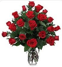 Düzce çiçek online çiçek siparişi  24 adet kırmızı gülden vazo tanzimi