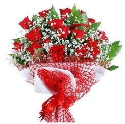 11 kırmızı gülden buket  Düzce çiçek gönderme sitemiz güvenlidir