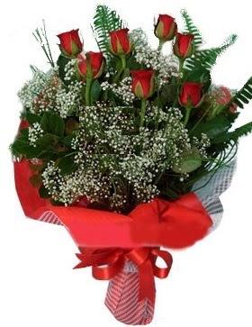 7 kırmızı gül buketi  Düzce çiçek satışı