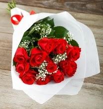 9 kırmızı gülden buket çiçeği  Düzce online çiçek gönderme sipariş