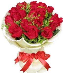 19 adet kırmızı gülden buket tanzimi  Düzce çiçek satışı