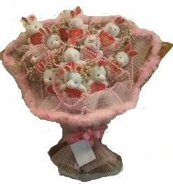 12 adet tavşan buketi  Düzce çiçek , çiçekçi , çiçekçilik